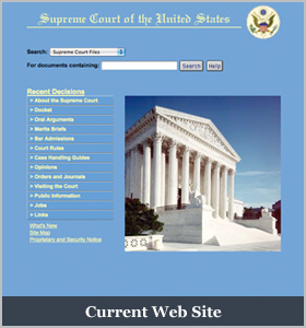 Current Supreme Court Home Page Picture