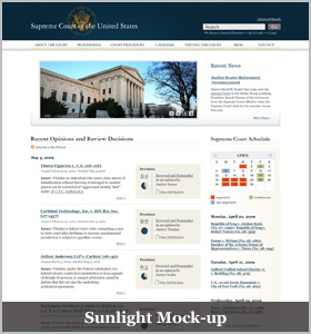 Sunlight Mock-up Home Page Picture