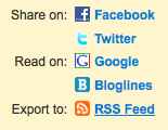 Create an rss feed on Postrank
