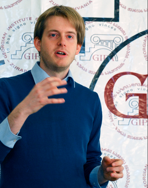 A picture of Mathias Huter -- a Project Manager at Transparency International Georgia