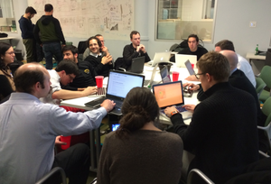 An image of PDF Liberation hackers at the New York Location