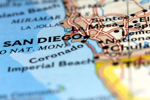Image of San Diego on a map
