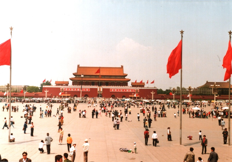 Tiananmen Square, Beijing. Pictured in 1988.