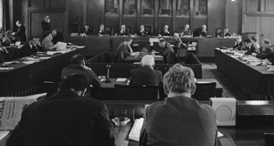 Budget talks in the Amsterdam municipal council, 22 February 1966.