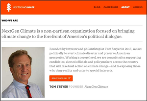 NextGen Climate's super-PAC, composed exclusively of Tom Steyer