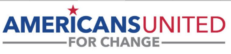 Logo of the dark money group Americans United for Change