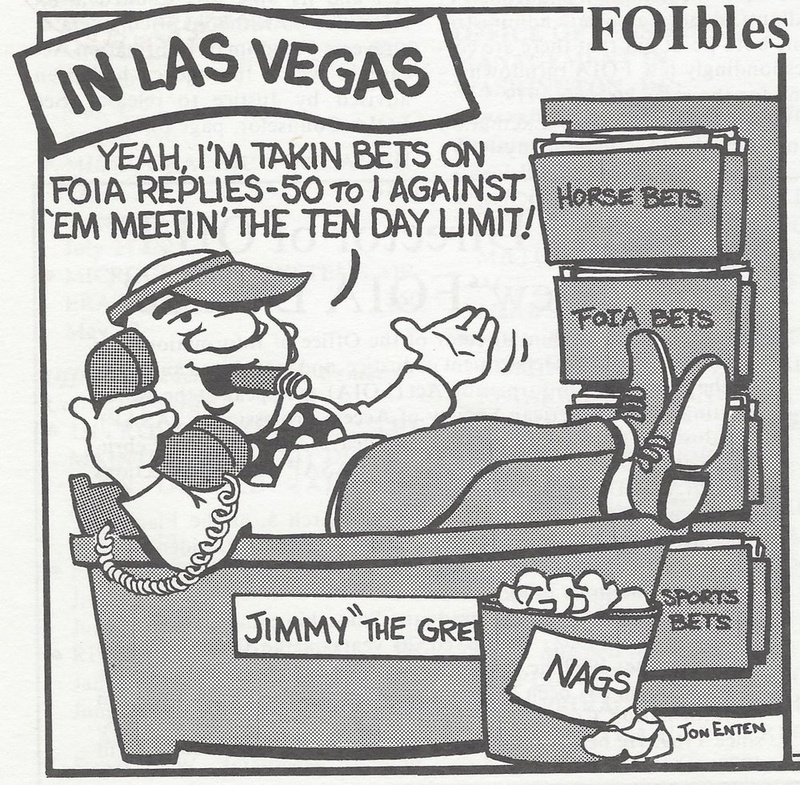 Comic of bookie in Las Vegas