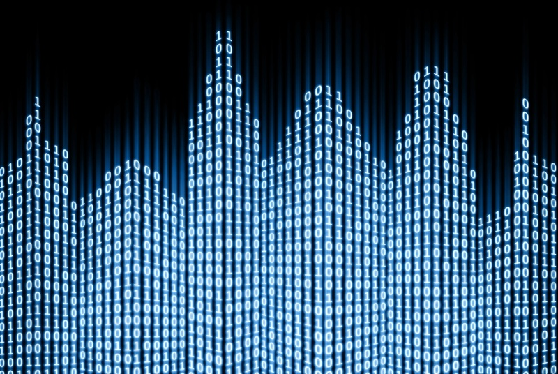 city skyline in data drawing