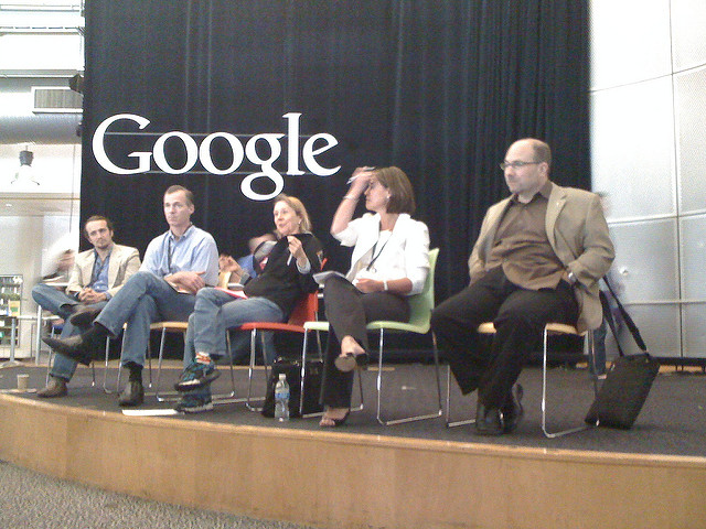 A panel at TCamp West