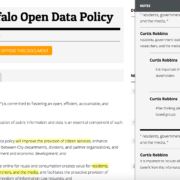 Buffalo used the OpenGov Foundation's Madison platform to solicit public feedback on their draft policy.