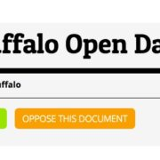 Screen shot of the City of Buffalo's draft open data policy on the Madison platform.