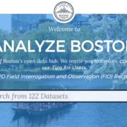 Screenshot of Boston's data portal