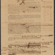 Senate revisions to House-passed amendments to the Constitution (Bill of Rights), September 9, 1789, Records of the U.S. Senate, National Archives.